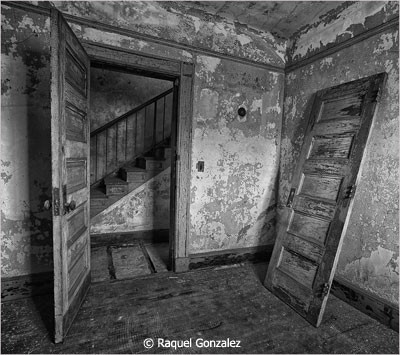 January-Black-and-White_Gonzalez_Raquel_Door-and-Stairs